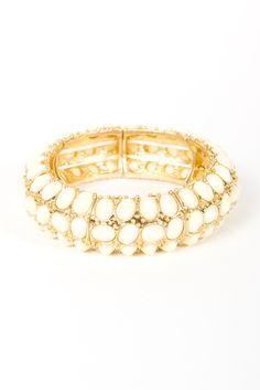 Cream Faceted Bracelet