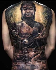 Back Tattoos For Guys, Full Back Tattoos, I Tattoo, Cool Tattoos, Amazing Tattoos, Buddha Tattoo Design, Recent Discoveries, Irezumi, Tattoo Artists