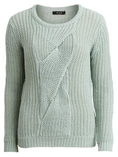 VIPINA - CABLE KNITTED TOP, Harbor Gray