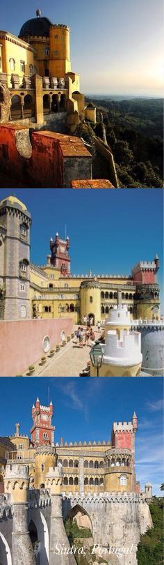 Pena Palace, Sintra, Portugal, created by the same architect who designed Neuschwanstein castle in Germany