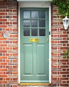 and Doors - Cotswood Doors Front Door Glass Panel, Front Door Porch, House Front, Glass Door, Front Entry, Best Front Doors, Front Doors With Windows, Wooden Front Doors, Painted Front Doors