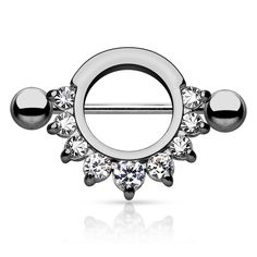 Embrace the latest trend with our selection of nipple Rings, fine nipple piercing jewelry from freshtrends. growing popularity of this type of piercing, more and more women are opting for nipple piercings as a way to enhance their appearances. Unique Belly Rings, Lip Jewelry, Nipple Rings, Half Circle, Cuff Earrings, Jewels, Engagement Rings, Elegant, Silver