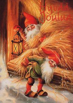"Photo from album ""Lars Carlsson"" on Yandex. Old World Christmas, Christmas Gnome, Scandinavian Christmas, Christmas Pictures, Vintage Christmas, Illustration Noel, Winter Illustration, Illustrations, Scandinavian Art"
