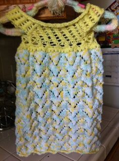 Knit Angel Wings Baby Dress