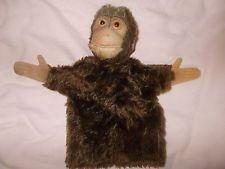 Good Vintage Collectible STEIFF Mohair Felt Jocko Monkey Hand Puppet Bargain BiN