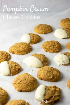 This pumpkin cream cheese cookies recipe makes the quintessential fall treat. They're soft and flavorful with the right amount of spice that makes them perfect! Pumpkin Pie Mix, Pumpkin Pudding, Canned Pumpkin, Fall Cookies, Pumpkin Cookies, Cream Cheese Cookie Recipe, Pistachio Cookies, Ginger Molasses Cookies, Pumpkin Cream Cheeses