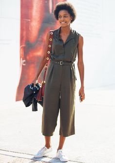 7 Casual-Cool Ways to Wear a Utility Jumpsuit via @WhoWhatWear