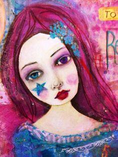 Suzi Blu mixed media painting