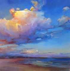 Ideas For Painting Acrylic Sea Abstract Landscape, Sky Painting, Seascape Paintings, Watercolor Paintings, Nature Oil Painting, Oil Paintings, Pastel Paintings, Painting People, Watercolor Artists, Indian Paintings