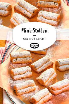 Mini-Stollen: Plätzchen in Stollenform für die Wei Keto Desserts, Healthy Dessert Recipes, Easy Desserts, Keto Snacks, Dinner Recipes, Dessert Simple, Brownie Recipes, Cake Recipes, Keto Recipes