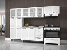 Cozinha Compacta Itatiaia Premium com Balcão - 13 Portas 4 Gavetas com as melhores condições você encontra no Magazine Mattoscarvalho. Confira!