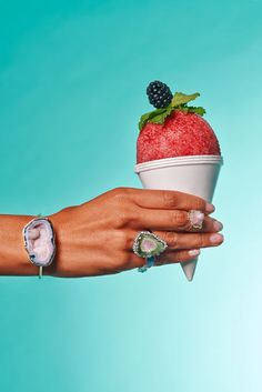 As an end-of-summer treat, we decided to combine two of our favorite iced-out treats: snow cones (provided by Clean Shave Ice) and bling. Mouth-watering, right? See all the photos and details on the jewelry worn. Jewelry Ads, Hand Jewelry, Dainty Jewelry, Sea Glass Jewelry, Photo Jewelry, Cute Jewelry, Jewelry Branding, Antique Jewelry, Jewelry Accessories