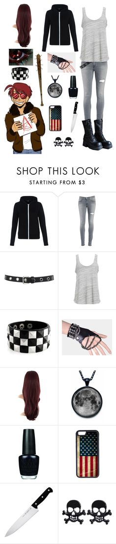 """""""Hetalia: Daughter of 2p America"""" by ender1027 ❤ liked on Polyvore featuring New Look, Dondup, Miss Selfridge, Project Social T, OPI, CellPowerCases and J.A. Henckels"""