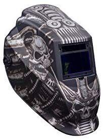 Metal Man ATEC8735SGC 9-13 Variable Shade Professional Auto-Darkening Welding Helmet, Techno Skull Auto Darkening Welding Helmet, Variables, Techno, Skull, Shades, Metal, Metals, Sunnies, Techno Music
