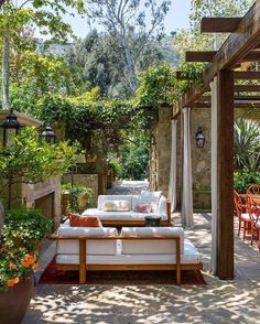 outdoor space with pergola #patio #pergola