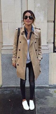 trench coat. street style.