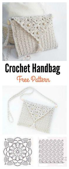 Pretty Crochet Handbag with Graphics and Free Pattern