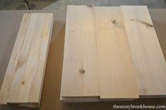 Cut wood pieces