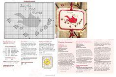 Cross Stitch XS Cardinal Ornament,                Just Cross Stich Christmas Ornaments 2014, Vol. 32, No. 6 - Old Willow Stitchery