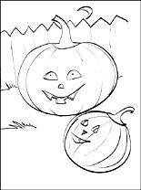 Printable page Pumpkins for Halloween   Coloring pages