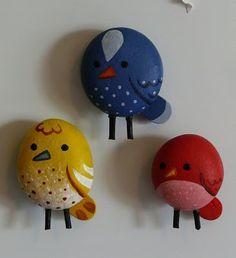 .Cute Rock Paining - - Birds