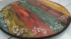 Imagem relacionada Reclaimed Wood Projects, Diy Wood Projects, Wood Crafts, Handmade Furniture, Painted Furniture, Decoupage Drawers, Painted Table Tops, Country Paintings, Dining Decor