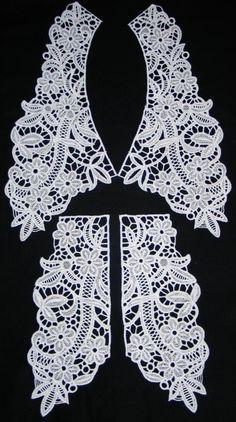 Advanced Embroidery Designs - FSL Flower Collar and Cuffs Set