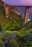 Bixby Bridge at dusk by Yves Rubin