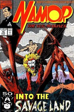 John Byrne, 1991. I love the Savage Land. I hope it makes it into the Marvel movies someday. Plus, Namor riding a griffin is just plain cool. -Darkhearst.