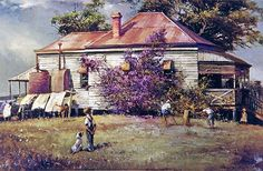 adawnstyle likes this Australian Painting, Australian Artists, Australian Houses, Australian Bush, Pictures Of Insects, Jungle Art, Virtual Art, Art Academy, Country Art