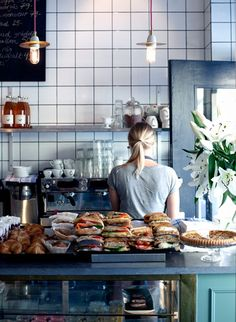 Kaffeverket | Stockholm / they pretty much just stack those sandwiches. Looks great. Minimalist, pure sandwich