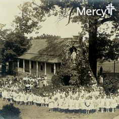 A century ago, students from St. Anne's Academy (founded by the Sisters of Mercy) gathered around this grotto. A U.S. president even once lived at this site in Fort Smith, Ark.‪ #‎TBT‬ #throwbackthursday
