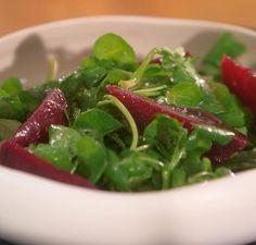 SALADE BETTERAVE CRESSON sauce à l'orange Vinaigrette, Seaweed Salad, Green Beans, Entrees, Spinach, Meal Prep, Vegan, Vegetables, Ethnic Recipes