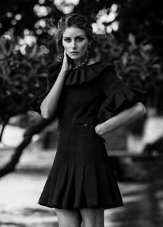 Olivia Palermo in#ChanelLBD for Miss Vogue    http://www.styleclassandmore.tumblr.com