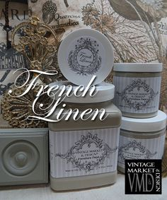 French Linen Vintage Market And Design Country Style Chic