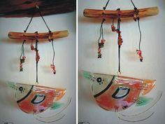 Señor Pajaro Glass Wind Chimes, Fused Glass, Projects To Try, Outdoor Decor, Home Decor, Mobiles, Google, Glass Art, Barn Owls