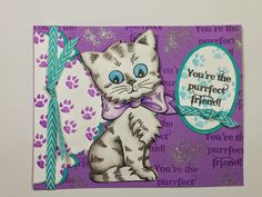 Fun new Kitty stamps with matching dies from @Stampendous. By Jamie Martin. #Cre8time