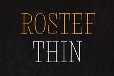Rostef Thin by glukfonts on @creativemarket