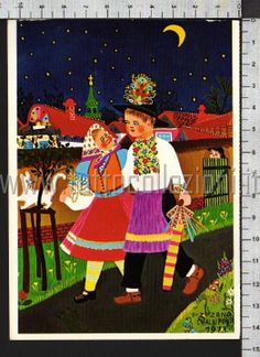 naif zuzana chalupova passeggiata sotto la luna q5577 arte naif zuzana ...