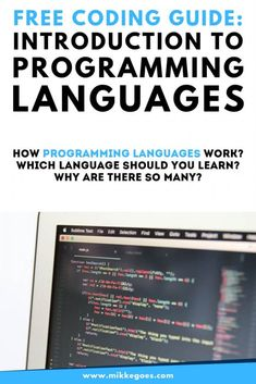 What is a programming language? Why are there so many programming languages? Find out more in this introduction to programming languages for beginners. Introduction To Programming, Learn Programming, Computer Programming, Programming Humor, Learn Computer Coding, Learn Computer Science, Learn Coding, What Is Computer, Kids Computer
