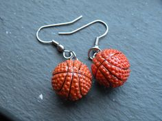 March Madness NCAA Basketball Earrings by CrochetAvenue on Etsy, $7.99