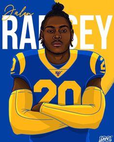 Jalen Ramsey the new LA Ram Giants Football, Football Art, Football Memes, Messi, Itunes Music, Nfl Rams, Jalen Ramsey, Football Workouts, Oakland Raiders Logo