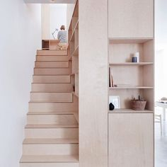 Islington Maisonette von Larissa Johnston Architects in London The Effective Pictures We Offer You About basement Stairs A quality picture can tell you many things. Plywood Interior, Interior Stairs, Plywood Furniture, Furniture Design, Furniture Cleaning, Furniture Storage, Interior Ideas, Modern Furniture, Interior Decorating