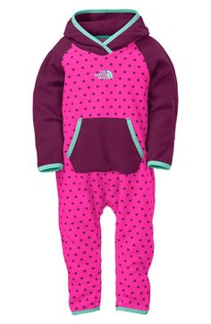 79138b41c7f1 The North Face  Glacier  Fleece Bunting (Baby Girls) available at  Nordstrom