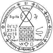 Recharge le potentiel vital. Les vertus essentielles des sept planètes sont condensées dans ce pentacle. A porter en même temps que celui ...