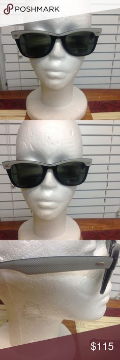 Ray Ban wayfarer Sunglasses Authentic vintage Ray Ban black plastic frames with gray top and arms. Beautiful condition, classic style, low price. Accessories Sunglasses