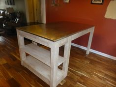 Stainless steel top kitchen island table by MyBlessingsAbounding