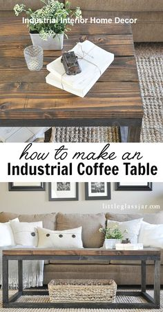 Build your own affordable DIY Industrial Coffee Table with this easy step by step tutorial. It's the perfect living room addition for any decor style! Diy Table, Home Furniture, Furniture Diy, Industrial Coffee Table, Diy Coffee Table, Diy Coffee, Home Diy, Coffee Table, Industrial Home Design