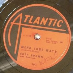 Ruth Brown on Atlantic, 1953. This is the birth of rock & roll! Click the link to hear my actual 78rpm of this. Badass!