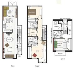 Image result for townhouse floor plans with garage